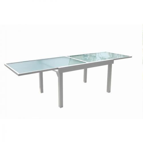 table de jardin a rallonge aluminium 135 270 x 90 x 75 cm achat vente table de jardin. Black Bedroom Furniture Sets. Home Design Ideas