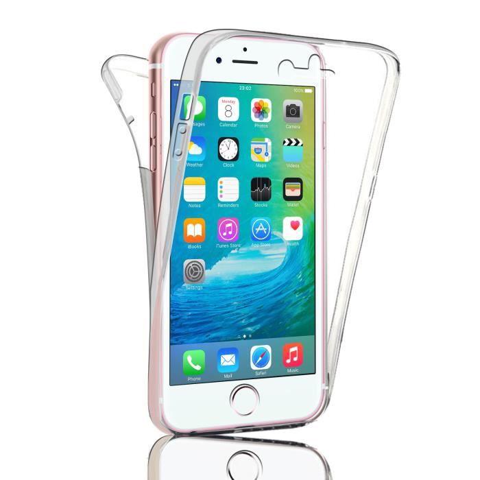 coque transparent iphone 7 plus full avant arrier
