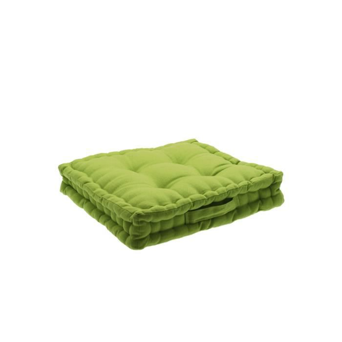 coussin de sol vert anis vert achat vente coussin. Black Bedroom Furniture Sets. Home Design Ideas