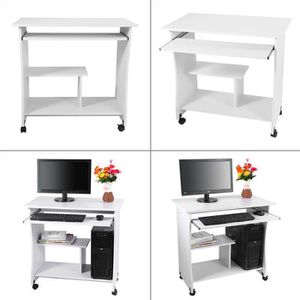 Meuble informatique blanc achat vente meuble for Bureau multimedia blanc