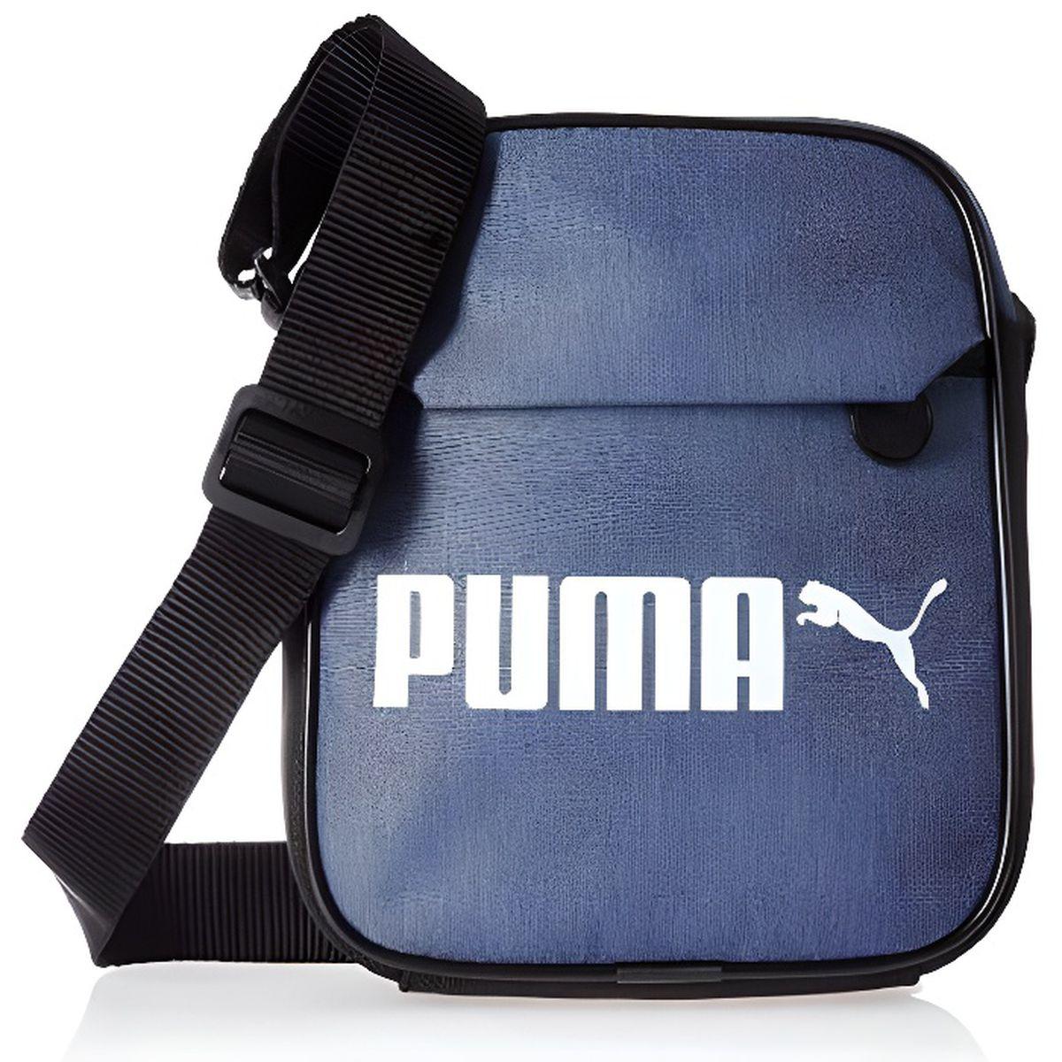 Puma - Sacoche Bandoulière Campus Bleu Denim - 075007 01 ...
