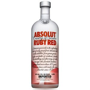 VODKA Absolut Ruby Red  1 litre