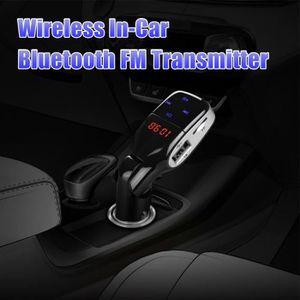 TRANSMETTEUR FM Adaptateur sans fil Bluetooth Chargeur allume-ciga