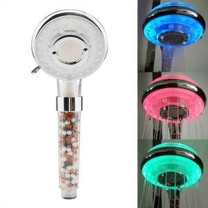 DOUCHETTE - FLEXIBLE Changement LED coloré Pomme de douche Salle de bai