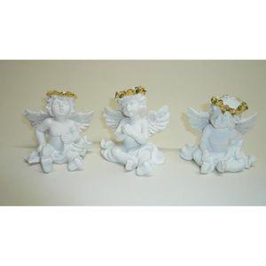 30 x 7 x 5 cm Gris Bois Small Foot 10539 Figurines d/écoratives Anges