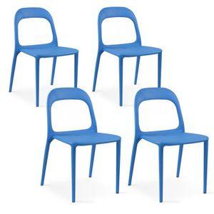 FAUTEUIL JARDIN  Chaise en plastique de jardin Bleu