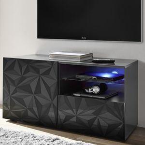 MEUBLE TV Meuble TV 120 cm gris laqué design PAOLO 3 Gris L