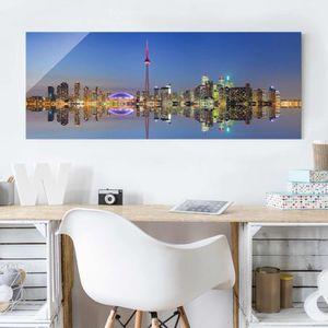 CADRE PHOTO 40x100 cm verre image - ville de toronto skyline a