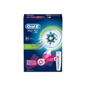 BROSSE A DENTS ÉLEC Brosse à dents électrique Oral-B 750 CrossAction P