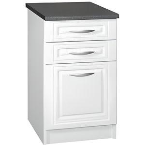 ELEMENTS BAS Meuble cuisine bas 60 cm 3 tiroirs DINA blanc