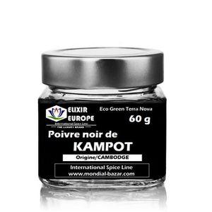 POIVRE Poivre noir de KAMPOT - pot verre 60 g