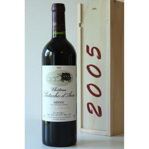 COFFRET CADEAU VIN Coffret Château Patache D_x0003_Aux 2005 Rouge 75c