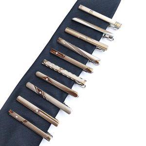 PINCE A CRAVATE Lot de 10 Pince à Cravate homme en acier inoxydabl