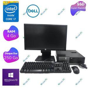 UNITÉ CENTRALE + ÉCRAN Dell Optiplex 7010 - Intel Core i7 3770 - RAM 4 Go