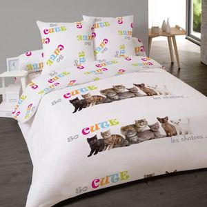housse de couette de chat achat vente housse de couette de chat pas cher cdiscount. Black Bedroom Furniture Sets. Home Design Ideas