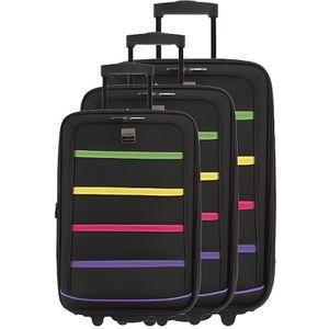 SET DE VALISES FRANCE BAG - Set de 3 valises xtensibles 2 roues p