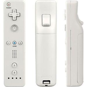 TÉLÉCOMMANDE CONSOLE Blanc Manettes Wiimote remote avec cas Pour Wii Ni