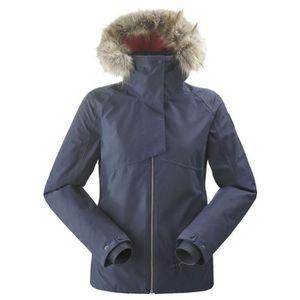 GRACE KARIN Femme Hiver Chaud Manteau Matelass/é Epaiss avec Capuche en Fourrure Artificielle Zipper Doudoune Parka de Grande Taille