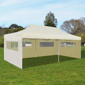 TONNELLE - BARNUM Tente de réception pliable crème 3 x 6 m