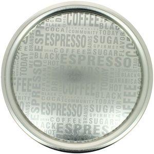 PLAT DE SERVICE Grand Plateau argenté Design Mot coffee silver en