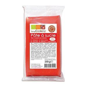 PATE A SUCRE Pâte à sucre - Rouge : Sachet de 300 g
