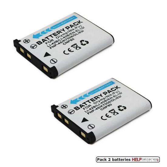Otech Batterie Compatible pour FUJIFILM XP30