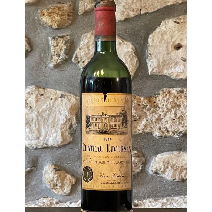 Vin rouge, Haut Medoc, Château Liversan 1959 Rouge