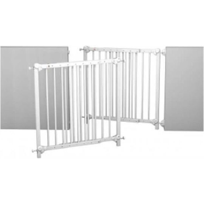 At4 barri re 70 107 cm amovible et portilon blanc achat vente barri re de s curit - Barriere de securite sans percage ...