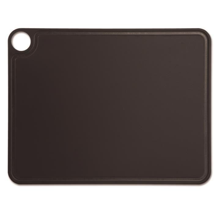 Planche à découper Arcos 692310 en fibre de cellulose et résine 42,7 x 32,7 cm noir dans une boîte.