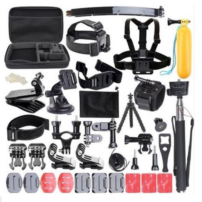 Pour Kit complet d'accessoires de 50 pièces Kit GoPro HERO 6 5 Hero 1 2 3 3 Action Camera Set MN19