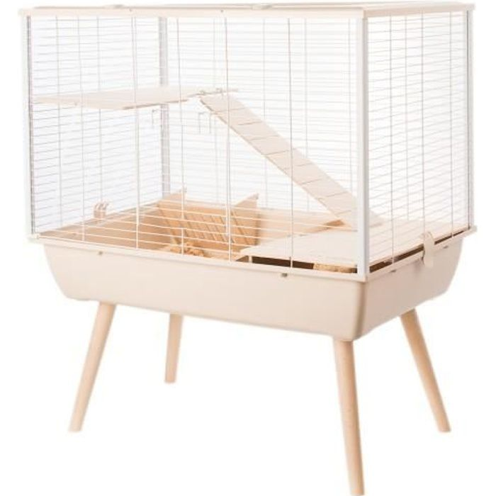 Cage Neo Muki Grands Rongeurs Beige