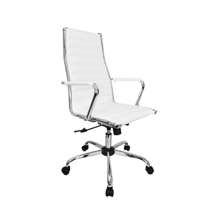 Fauteuil de bureau design Tiffany - Blanc -