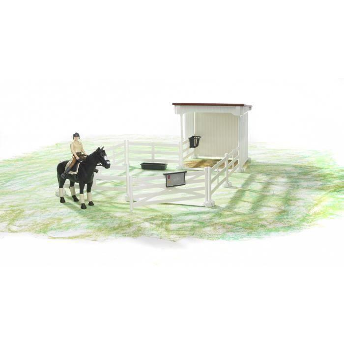 BRUDER - Enclos avec box, un cheval et un personnage - 10,6 cm