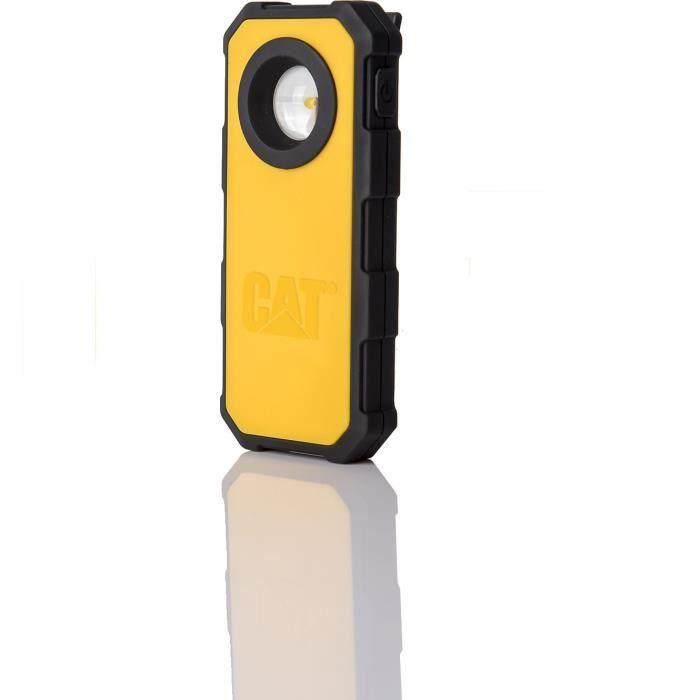 Lampe de poche CT5120 250 Lumens. Clip arrière ceinture/poche Jaune Noir