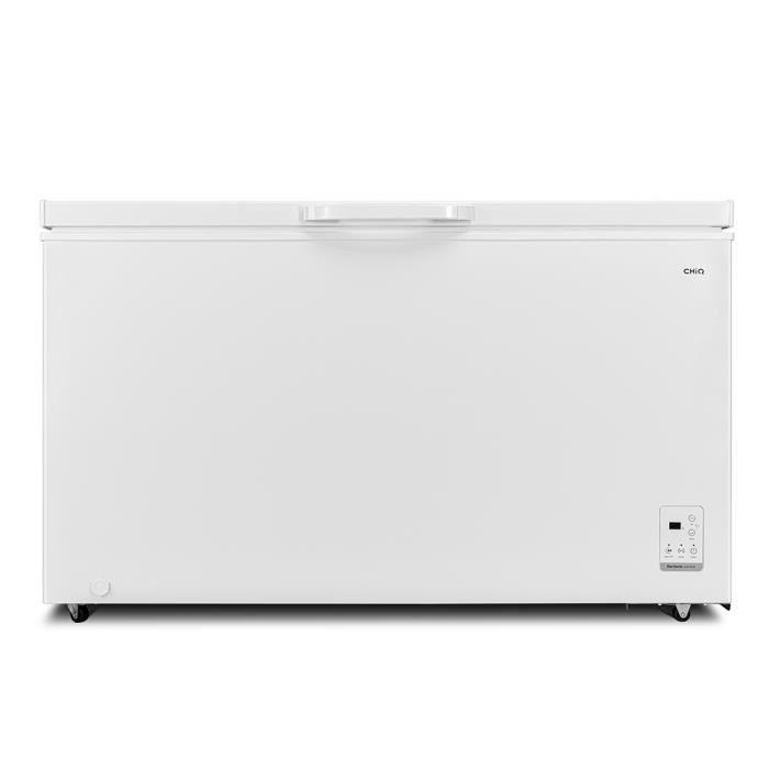 CHiQ congélateur FCF400D, 400litres, blanche, faible consommation A+, 40db, 12 ans de garantie sur le compresseur