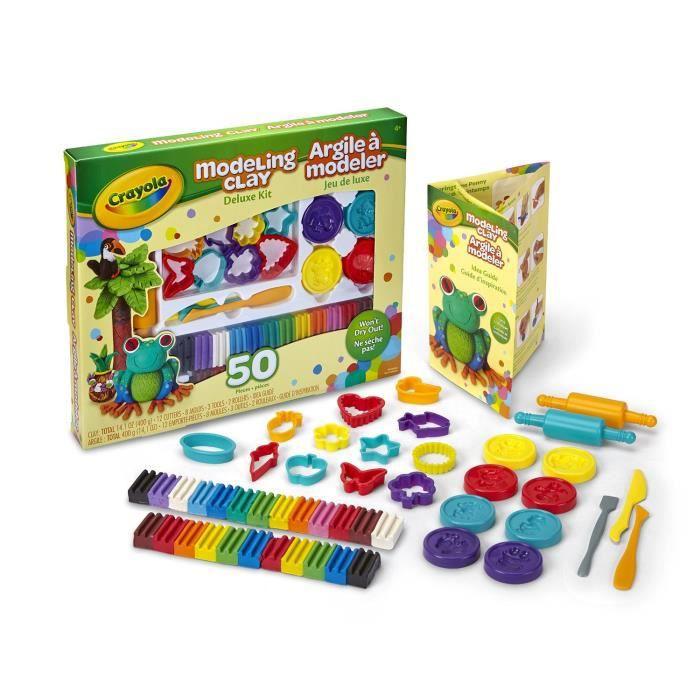 Crayola Kit Deluxe Argile à Modeler 50 Pièces