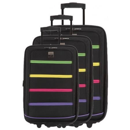 FRANCE BAG - Set de 3 valises xtensibles 2 roues polyester