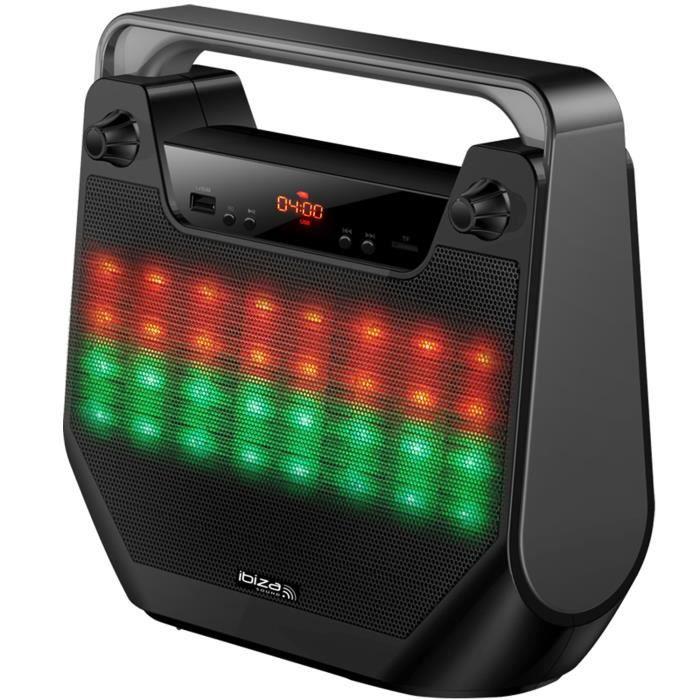 Enceinte lumineuse bluetooth active autonome 4--10CM - BT-USB-SD