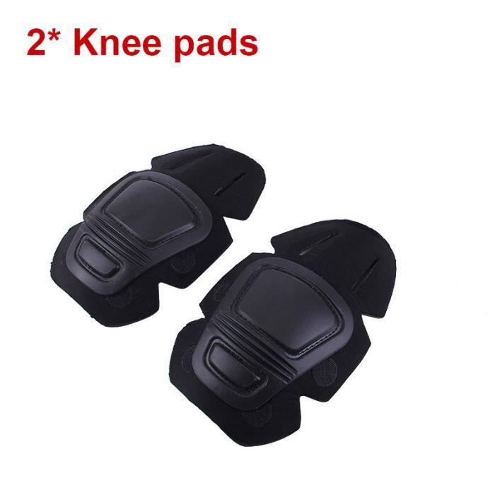 PROTEGE-CHEVILLES - CHEVILLERE,COYOCO militaire tactique g2 g3 combinaison grenouille genouillères et - Type 2 Knee pads Black