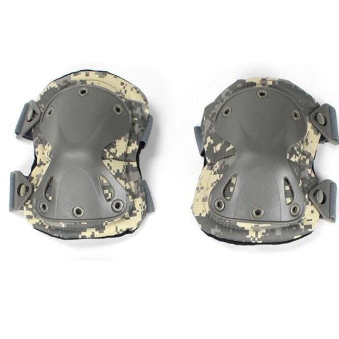 PROTEGE-CHEVILLES - CHEVILLERE,Genouillères tactiques équipement de protection coudières militaires Airsoft - Type acu kneepad