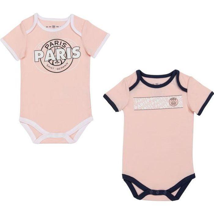 2 x body bébé fille PSG - Collection officielle PARIS SAINT GERMAIN