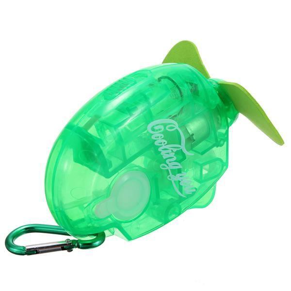 Mini Ventilateur Poche Pulvérisation Brumisateur à Pile Voyage Été Enfant Cadeau Vert / Green