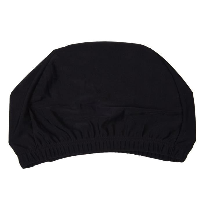 Femme Homme Polyester elastique piscine Baignade Chapeau Noir
