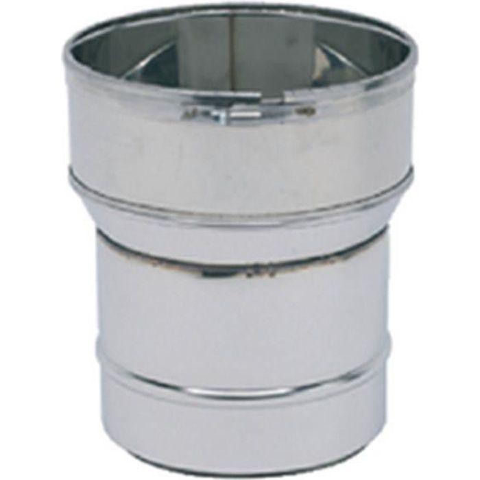 Ten Raccord poêle tube inox diamètre 125mm diamètre flexible 125 131 réf 123121