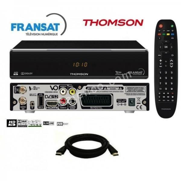 Pack récepteur Thomson THS805 HD + Carte Fransat + Câble HDMi 2M Offert