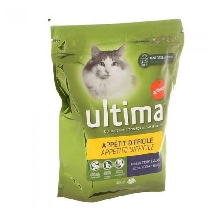 ULTIMA Croquettes - Pour chat difficile - 400G
