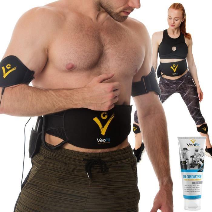 Ceinture Electrostimulation et Musculation Veofit - Electrostimulateur musculaire Abdo, Bras, Cuisses et Mollets, Homme et Femme