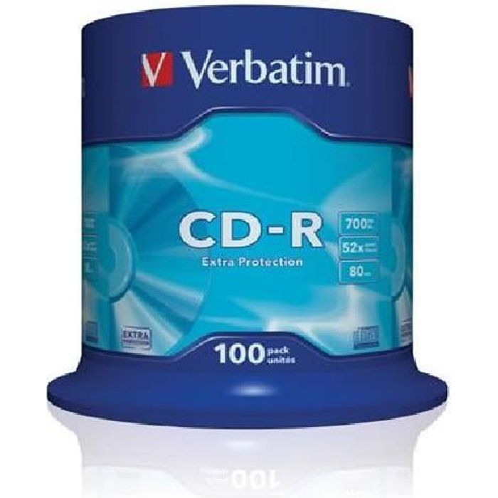 100 CD-R Verbatim CakeBox