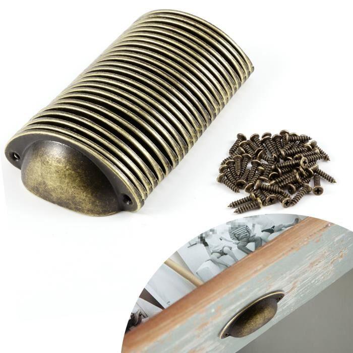 Poign/ées Bouton Antique en Spirale pour Cuisine Armoires Placard Tiroir D/écoration