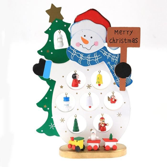 Bois Père Noël bricolage bonhomme de neige ornements